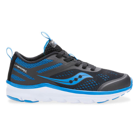 SAUCONY BOYS GRADE SCHOOL LITEFORM MILES BLACK/ROYAL