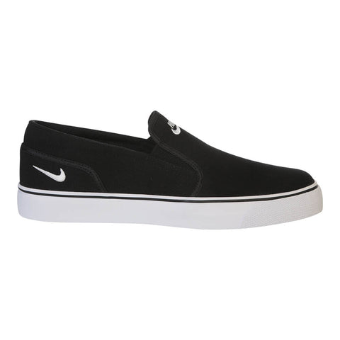 NIKE MEN'S TOKI SLIP TXT LIFESTYLE SHOE BLACK/WHITE