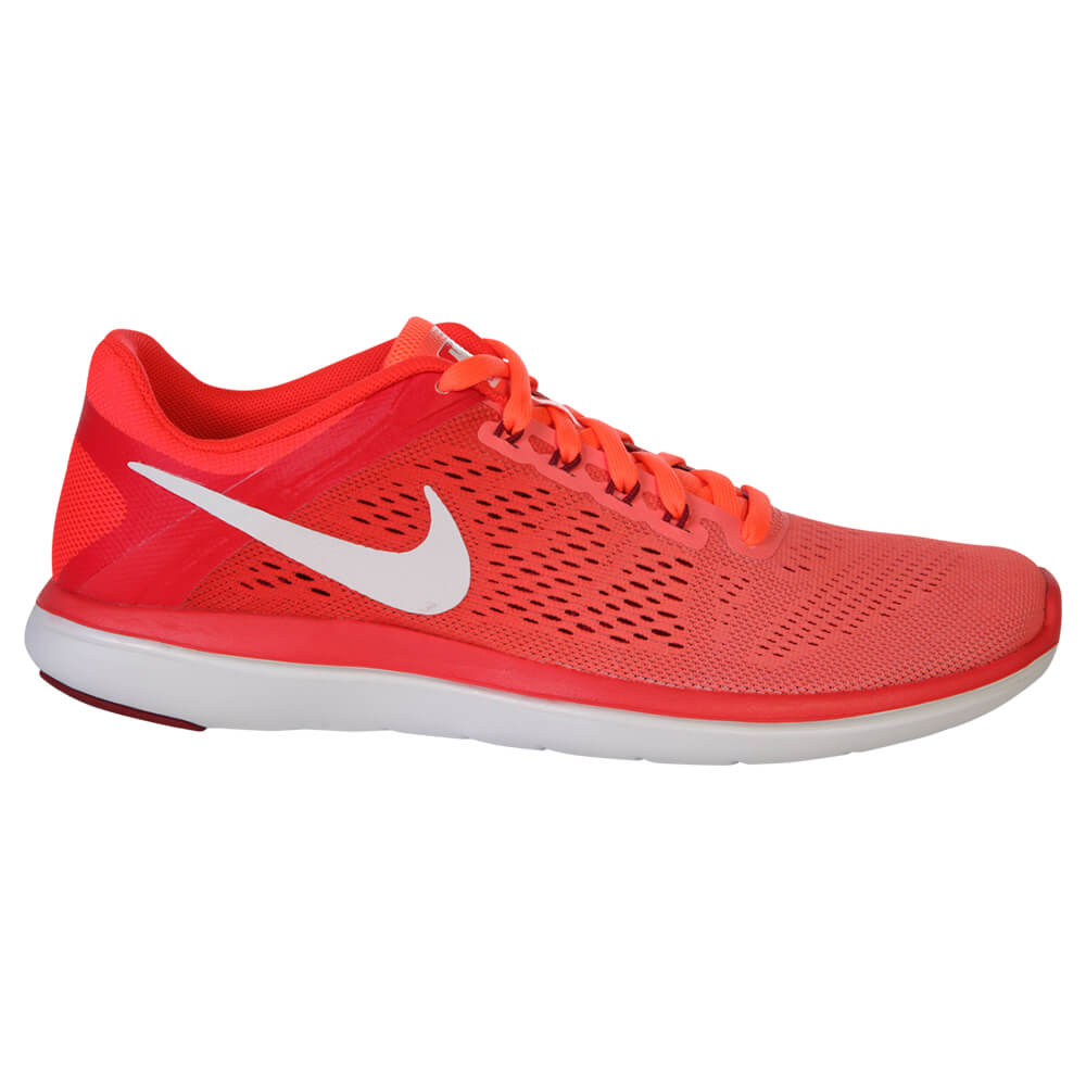 a14804575cedee NIKE WOMEN S FLEX 2016 RN RUNNING SHOE MANGO WHITE CRIMSON ...