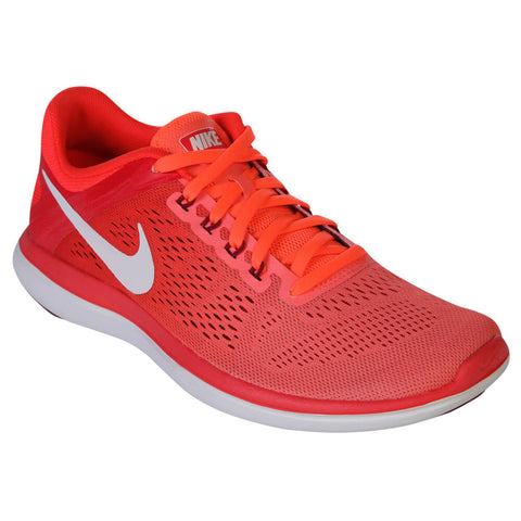 NIKE WOMEN'S FLEX 2016 RN MANGO/WHITE/CRIMSON