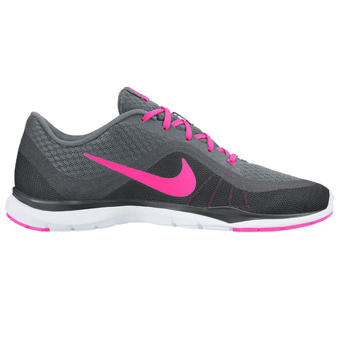 NIKE WOMEN'S FLEX TRAINER 6 TRAINING SHOE GREY/PINK/GREY