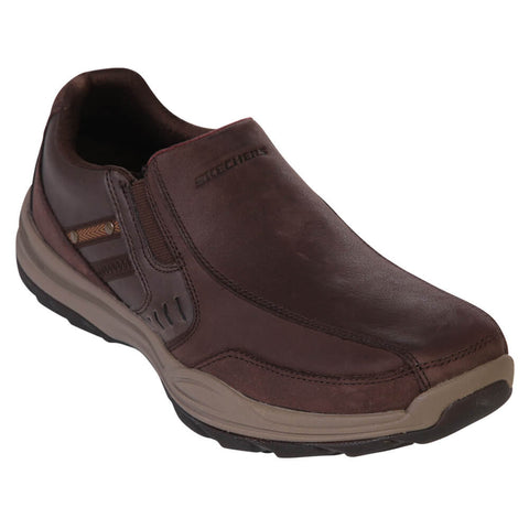 SKECHERS MEN'S ELEMENT BRENCEN LIFESTYLE SHOE DARK BROWN
