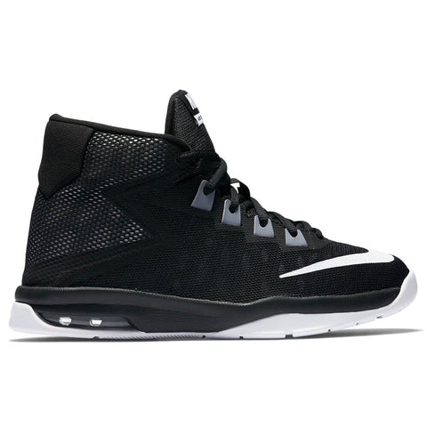 NIKE BOYS GRADE SCHOOL AIR DEVOSION JUNIOR SHOE BLACK/WHITE/GREY