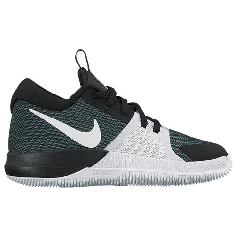 NIKE BOYS GRADE SCHOOL ZOOM ASSERSION JUNIOR SHOE BLACK/PLATINUM/WHITE