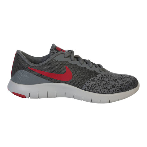 NIKE BOYS GRADE SCHOOL FLEX CONTACT KIDS SHOE GREY/RED/ANTHRACITE