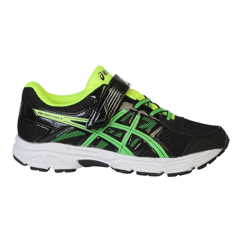 ASICS BOYS PRE-SCHOOL PRE-CONTEND 4 JUNIOR SHOE BLACK/GREEN/YELLOW