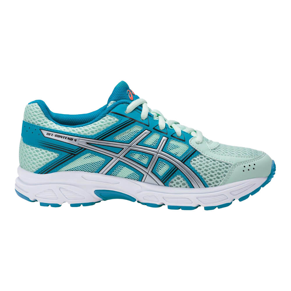d1379a2e254e ASICS GIRLS GRADE SCHOOL GEL CONTEND 4 SEA SILVER AQUA – National Sports