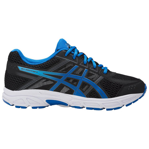 ASICS BOYS GRADE SCHOOL GEL CONTEND 4 JUNIOR SHOE BLACK/BLUE/CARBON