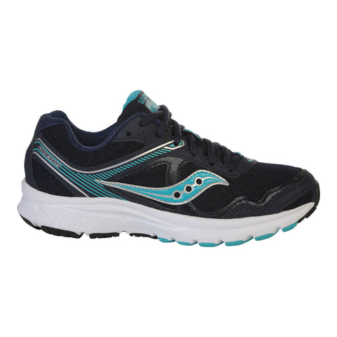 SAUCONY WOMEN'S COHESION 10 RUNNING SHOE NAVY/BLUE/SILVER