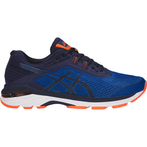 ASICS MEN'S GT-2000 6 RUNNING SHOE BLUE/ORANGE