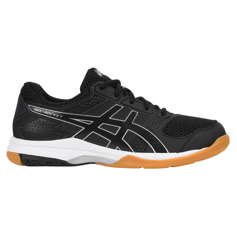 ASICS WOMEN'S GEL ROCKET 8 COURT SHOE BLACK/BLACK/WHITE