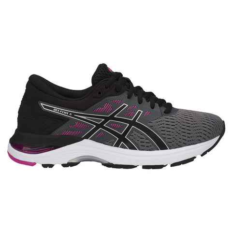 ASICS WOMEN'S GEL FLUX 5 RUNNING SHOE CARBON/BLACK/RED
