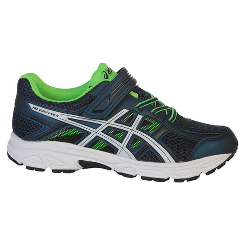 ASICS BOYS PRE-SCHOOL GEL CONTEND 4 KIDS SHOE BLUE/WHITE/GREEN