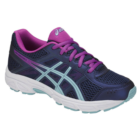 ASICS GIRLS GRADE SCHOOL GEL CONTEND 4 KIDS SHOE BLUE/CORAL/BLUE