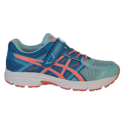 ASICS GIRLS PRE-SCHOOL GEL CONTEND 4 KIDS SHOE BLUE/CORAL/BLUE