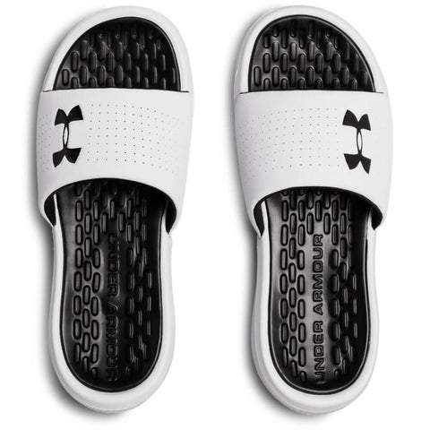 UNDER ARMOUR MEN'S DEBUT FIX SLIDE WHITE/BLACK