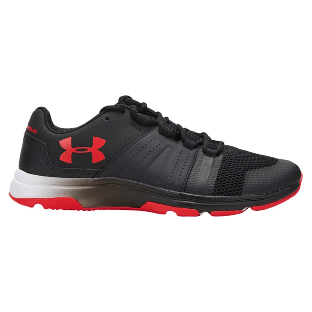 red and black under armour shoes