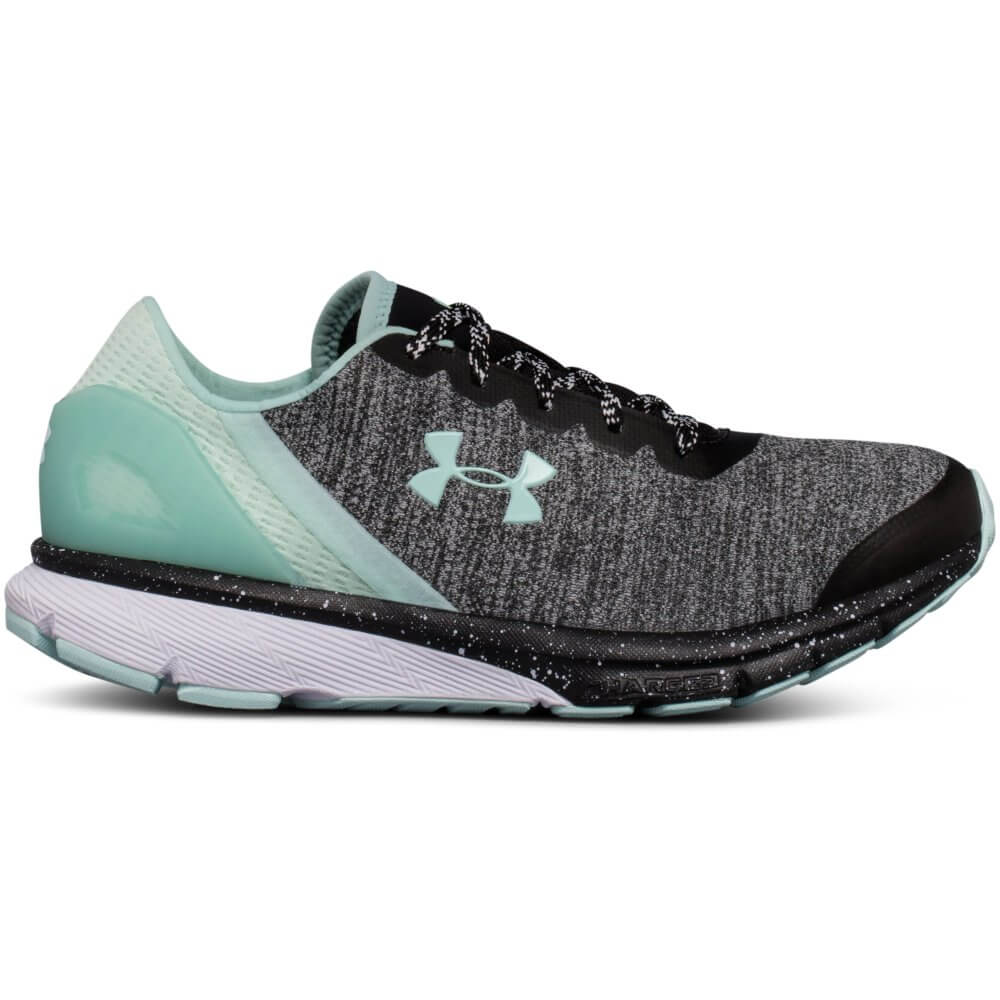 UNDER ARMOUR WOMEN S CHARGED ESCAPE RUNNING SHOE BLACK WHITE MINT ... 5f43ae3f88