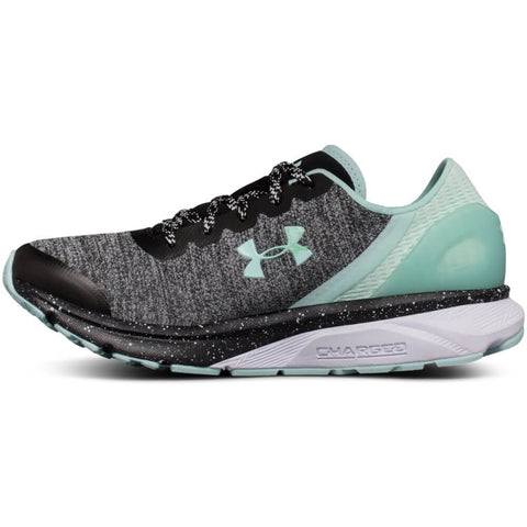 UNDER ARMOUR WOMEN'S CHARGED ESCAPE RUNNING SHOE BLACK/WHITE/MINT