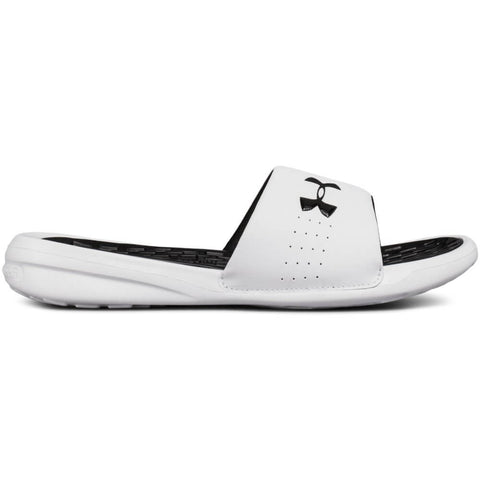 UNDER ARMOUR WOMEN'S  DEBUT FIX SLIDE WHITE/BLACK