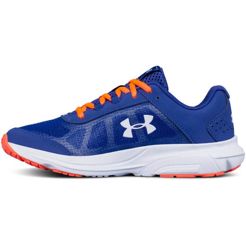 UNDER ARMOUR GIRLS GRADE SCHOOL  RAVE 2 KIDS SHOE BLUE/CORAL/GOLD
