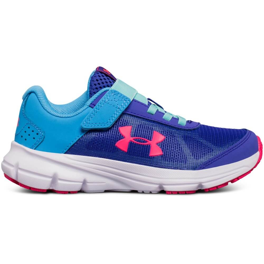 huge discount eeeb1 e9730 UNDER ARMOUR GIRLS PRE-SCHOOL RAVE 2 ALTERNATIVE CLOSURE KIDS SHOE  PURPLE/BLUE/