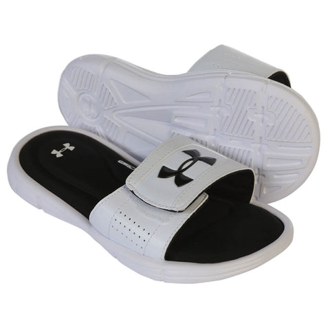 UNDER ARMOUR B IGNITE V SLIDE WHITE