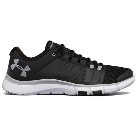 UNDER ARMOUR MEN'S STRIVE 7 TRAINING SHOE BLACK/WHITE