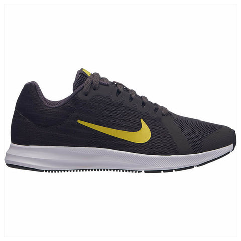 NIKE BOYS GRADE SCHOOL DOWNSHIFTER 8 KIDS SHOE GREY/YELLOW/OIL GREY