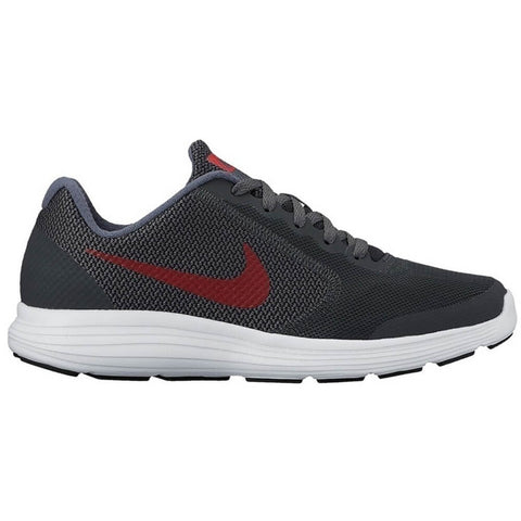 NIKE BOYS GRADE SCHOOL REVOLUTION 3 KIDS SHOE BLACK/RED/GREY