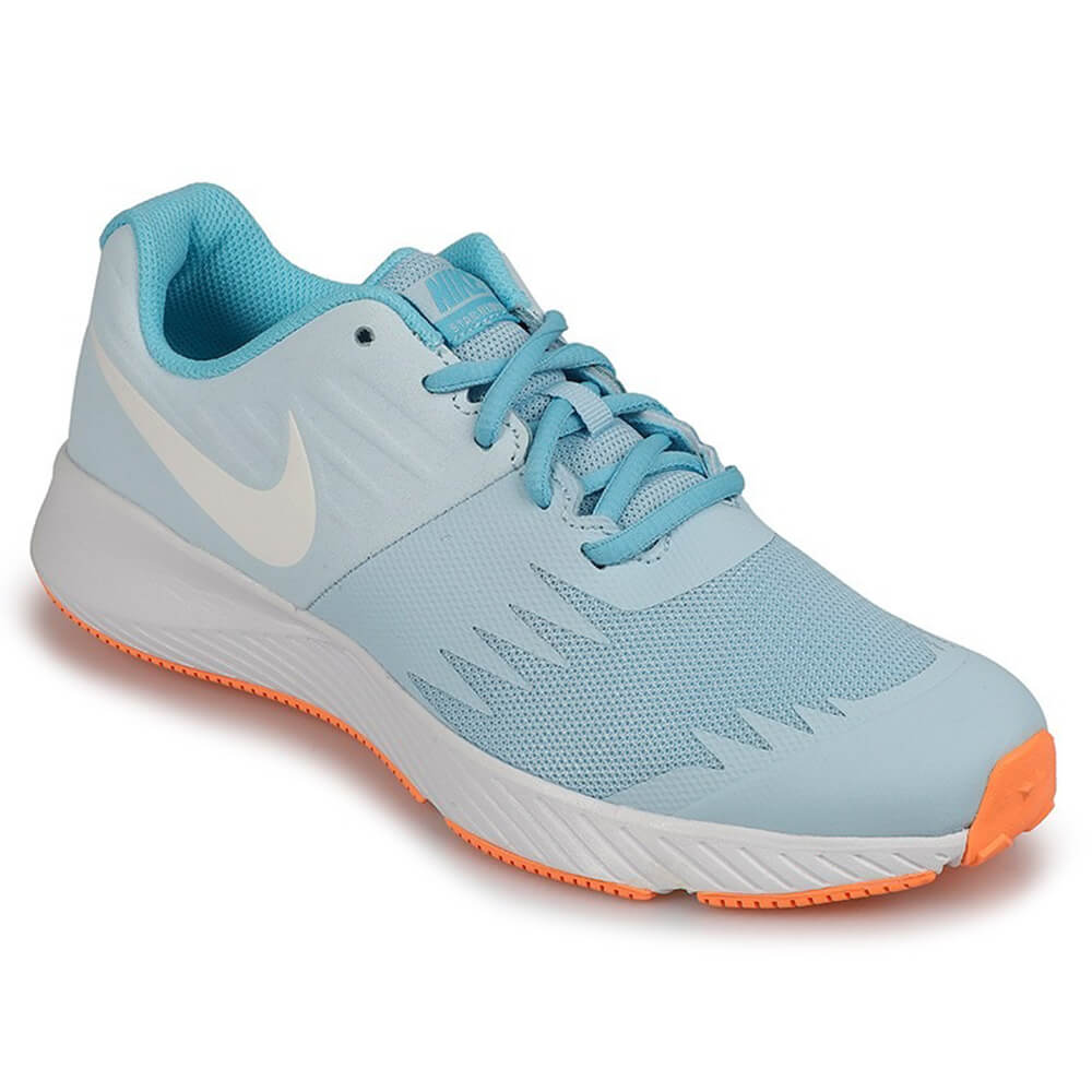2bee2dbe6e6c NIKE GIRLS GRADE SCHOOL STAR RUNNER KIDS SHOE COBALT TINT WHITE BLUE ...