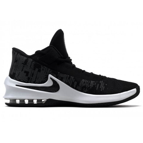NIKE MEN'S AIR MAX INFURIATE 2 MID BASKETBALL SHOE BLACK/WHITE/ANTHRACITE