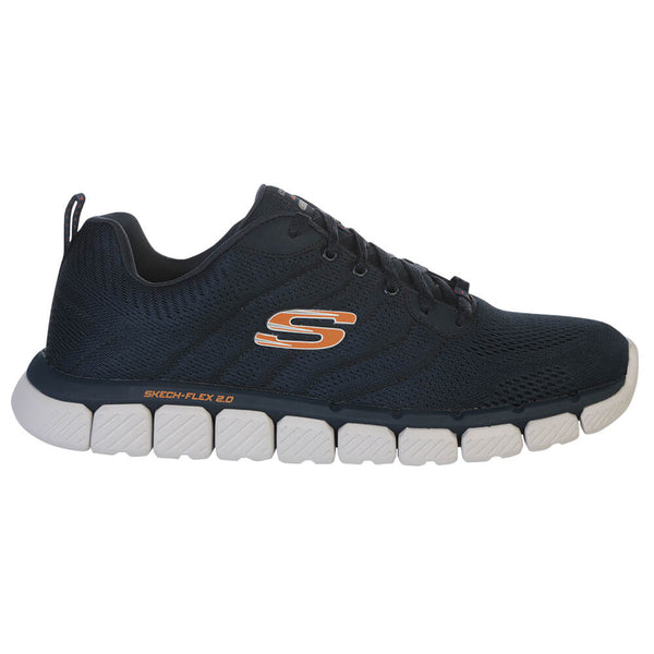 38c618c6192c SKECHERS MEN S SKECH-FLEX 2.0 - MILWEE WIDE RUNNING SHOE NAVY – National  Sports