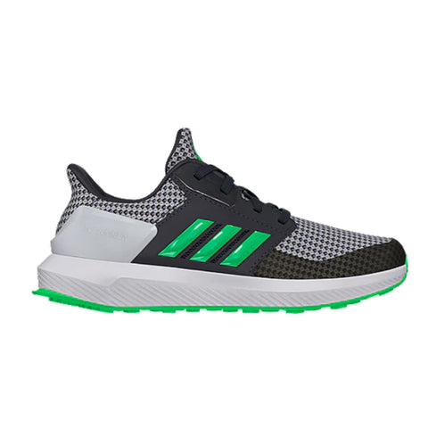 ADIDAS BOYS GRADE SCHOOL/PRE-SCHOOL RAPIDARUN KIDS SHOE GREY/LIME/WHITE