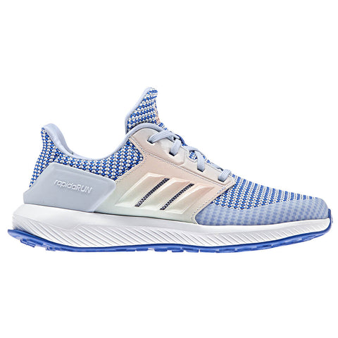 ADIDAS GIRLS RAPIDARUN K KIDS SHOE HI-RES BLUE/AERO BLUE/GREEN