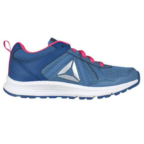REEBOK GIRLS GRADE SCHOOL PRE-SCHOOL ALMOTIO 4.0 KIDS SHOE BLUE BLUE SLATE 4de888012