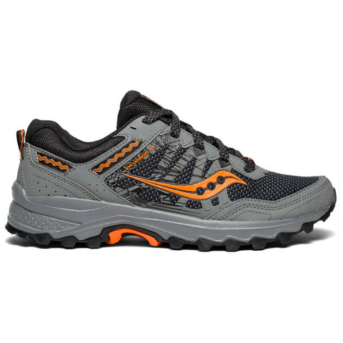 SAUCONY MEN'S EXCURSION TR 12 RUNNING SHOE GREY/ORANGE