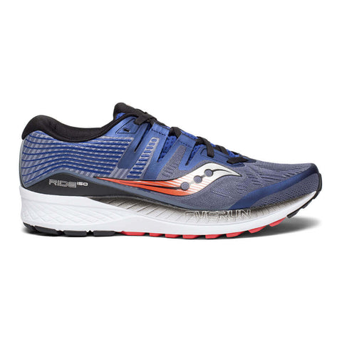 SAUCONY MEN'S EVERUN RIDE ISO RUNNING SHOE GREY/BLUE/RED