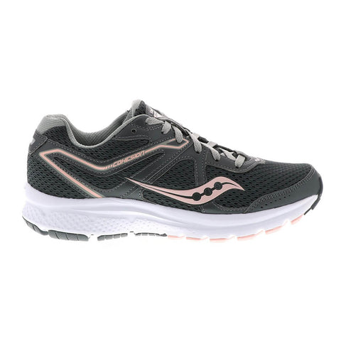 SAUCONY WOMEN'S COHESION 11 RUNNING SHOE CHARCOAL/PEACH