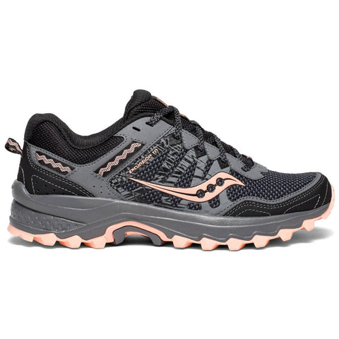 SAUCONY WOMEN'S EXCURSION TR 12 RUNNING SHOE GREY/PEACH