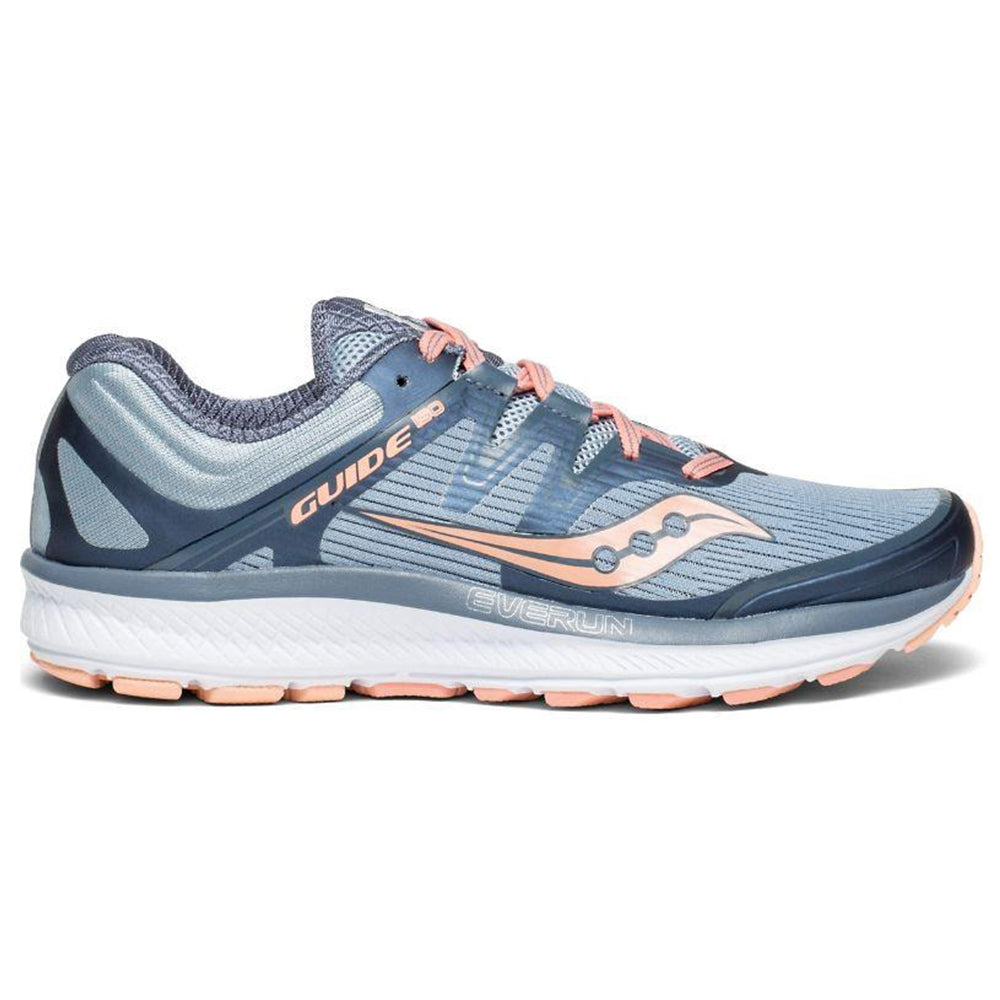 new style d9fba 60b49 SAUCONY WOMEN'S EVERUN GUIDE ISO RUNNING SHOE SLATE/PEACH