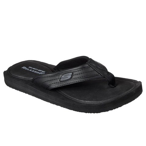 SKECHERS MEN'S TOCKER SLIDE CHARCOAL