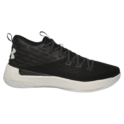 UNDER ARMOUR MEN'S LIGHTNING BASKETBALL SHOE BLACK/WHITE/WHITE