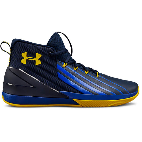 UNDER ARMOUR MEN'S LOCKDOWN BASKETBALL SHOE ACADEMY/ROYAL/TAXI