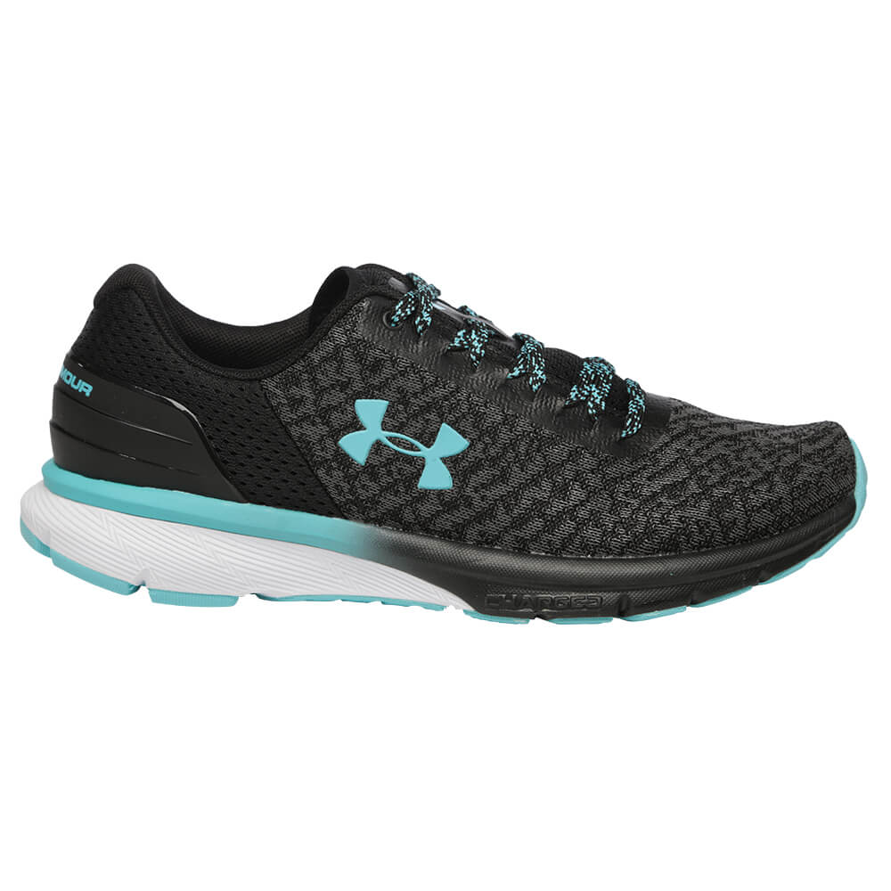 UNDER ARMOUR WOMEN S CHARGED ESCAPE RUNNING SHOE BLACK GRAPHITE BLUE ... 503c3114f2