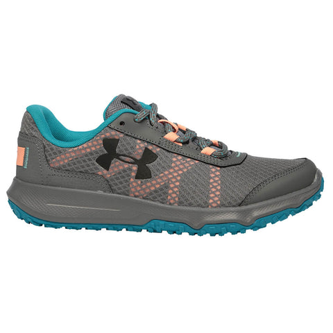 UNDER ARMOUR WOMEN'S TOCCOA RUNNING SHOE STEEL/BLUE/BLACK