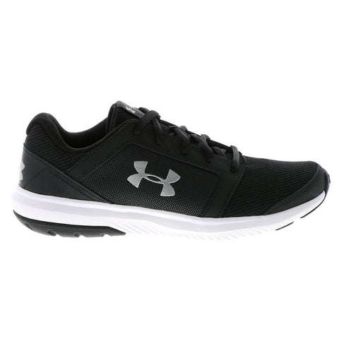 UNDER ARMOUR BOYS GRADE SCHOOL UNLIMITED KIDS SHOE BLACK WHITE ... ac8dcb26c593e
