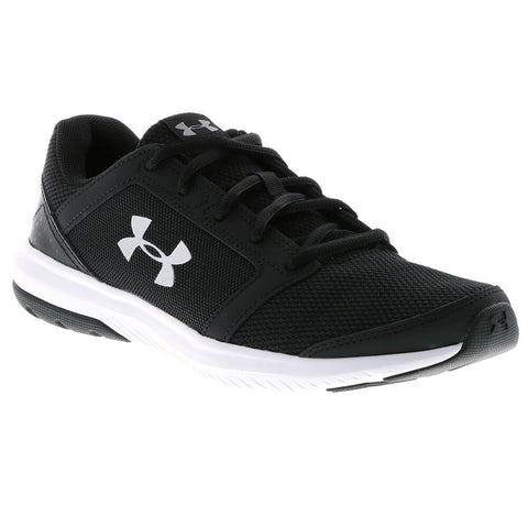 UNDER ARMOUR BOYS GRADE SCHOOL UNLIMITED KIDS SHOE BLACK/WHITE