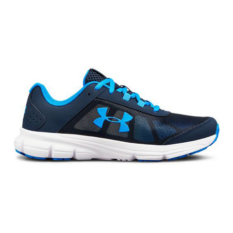 UNDER ARMOUR BOYS GRADE SCHOOL RAVE 2 KIDS SHOE ACADEMY/WHITE/BLUE
