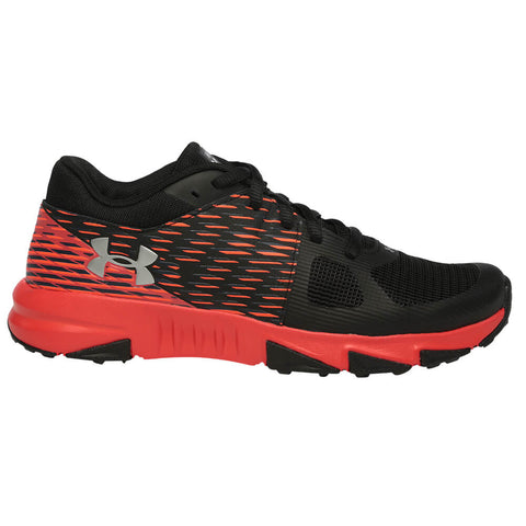 UNDER ARMOUR BOYS GRADE SCHOOL X LEVEL PROSPECT KIDS SHOE BLACK/RED/SILVER